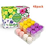 Scented Tea Lights Candles Bulk for Home,48 Pack Aromatherapy Candle Soy Wax for Candle Holder and Gifts Sets for Women|Small Mini Candles for Home Decor.