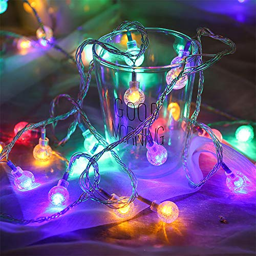 Zorela Coloured Globe String Lights, 15M 100 LED RGB Globe Fairy Lights with Remote, USB or Battery Powered, Indoor Outdoor Multi Coloured Fairy Lights for Christmas, Party, Patio, Garden and Bedroom