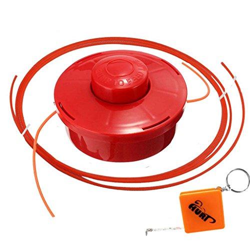 HURI Fadenkopf Fadenspule + 2m Faden passend für Rotfuchs MFT52 Multifunktionsschneider Motorsense Heckenschere 4in1 3PS 52ccm