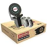 Matsuro Original | Mini 3D Impresora de etiquetas M-101 con 2 cintas NEGRAS | Práctica Organizadora Manual DIY con 43 símbolos | Sistema intuitivo de etiquetado turn and click | Impresión y corte