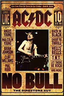 BEYONDTHEWALL Archive AC/DC No Bull Hard Rock Music Icons Print (24x36 Unframed Poster)