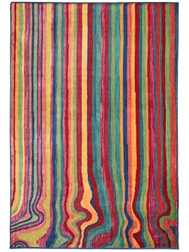 Benuta Alfombra Color Multicolor 133 x 190 cm   Alfombra Moderna para salón y Dormitorio