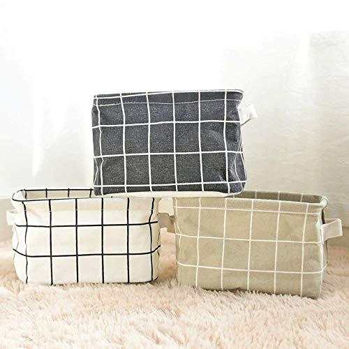 KKGASSAB Conjunto Duradero de 3 Cajas de Almacenamiento de celosía pequeña y Organizador de algodón a Prueba de Agua Cesta de Almacenamiento de Escritorio de la Cesta de Escritorio