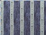 Walter Kern Baumwollstoff Meterware 140 cm breit blau grau