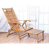 XCJJ Tumbona de gravedad cero, sillones plegables de bambú resistente y antideslizante, resistente al deslizamiento, ideal para patio con césped, soporte para jardín al aire libre, 550 lb