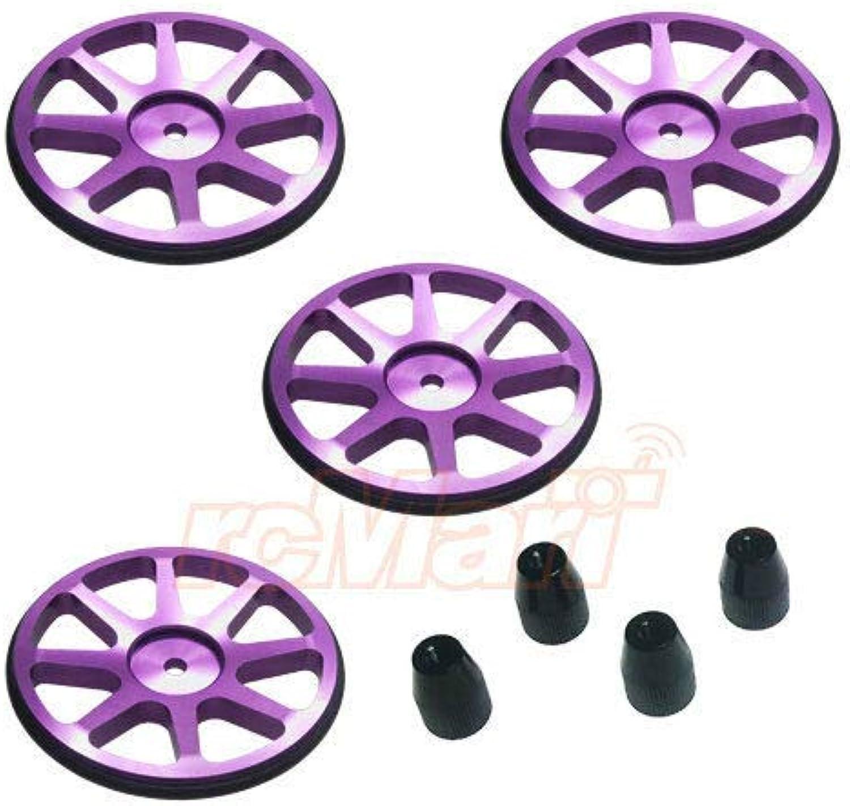 FidgetGear Aluminum Setup Wheels Ver 2 Purple EP 1 10 RC Car