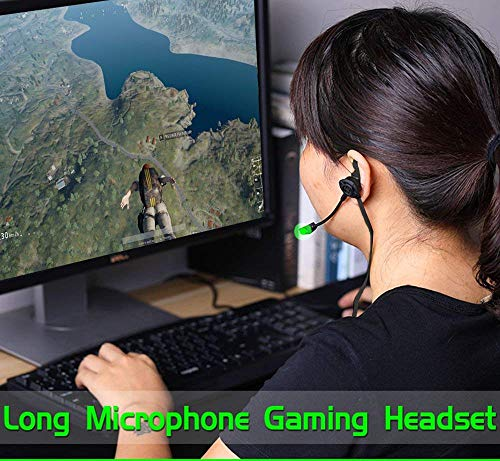 Wired Gaming Earphone with Adjustable Mic for PS4,Laptop Computer, Cellphone,JEZOMONY E-Sport Earburds with Portable Earphone Bags, Snug Soft Design, Inline Controls for Hands-Free Calling. (Black)