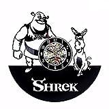 Syhua Nouveau CD Vinyle Horloge Murale Shrek Fresh Design Montre Décoration Murale À La Maison Horloge Classique Horloge Murale Murale Horloges Décoratives