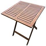 Klapptisch 60x60cm Akazie Balkontisch Bistrotisch Garten Holztisch Beistelltisch