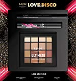 NYX Professional Makeup Idea Regalo Collezione Natale Love Lust & Disco set Make-up Love Snatched, 3 pezzi, Palette ombretti, Mascara e Matita occhi