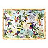 Les Jardins de la Comtesse – Bandeja rectangular grande con asas de melamina...