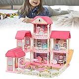 Zerone Casa de muñecas para niños Casa de muñecas Casa de muñecas para baño Familiar Sala de Estar Sala de temática Princesa Comedor