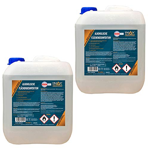 INOX® alkoholische Flächendesinfektion, 2 x 5L - Flächendesinfektionsmittel mit Alkohol, Desinfektionsmittel Oberflächen