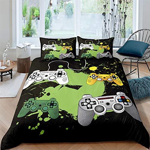 HGFHGD Color Gamepad 3D-Druck Textil Bettwäsche Set Erwachsene Student Druck Bettbezug Groß Extra Groß