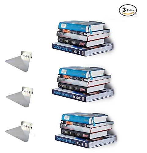 Ducomi onzichtbare verborgen drijvende metalen boekenplank - muur gemonteerde opslag voor thuis - kamer creatieve decoratie boek scherm