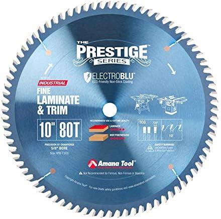 "new arrival Amana high quality Tool - 610801C Electro-BLU Carbide Tipped Fine popular Cut-Off & Crosscut 10"" Dia x 80 online sale"