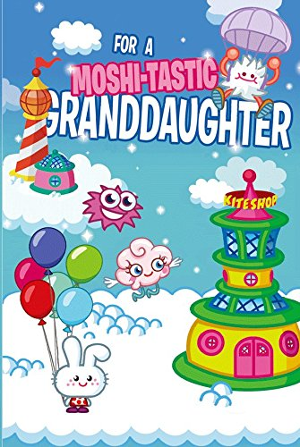 Moshi Monsters Granddaughter Birthday 3D Holographic Greeting Card - Moshi-Tastic by Moshi Monsters