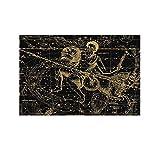 Póster de la tabla de astronomía de Acuario, 40 x 60 cm