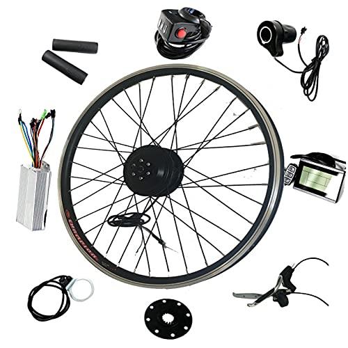 "Kit de bicicleta eléctrica 36V350W, kit de conversión de bicicleta eléctrica, pantalla LCD, tamaño de rueda de 20 ""/ 24"" / 26 ""/ 28"" kit de conversión de rueda delantera y trasera,FrontWheel-26INCH"