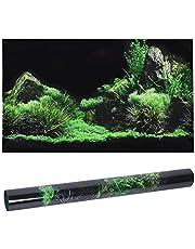 Cartel del acuario, decoración del fondo del acuario de la hierba del agua del fondo marino pegatina autoadhesiva del papel pintado del acuario del PVC 3D para la decoración del acuario(61*30cm)