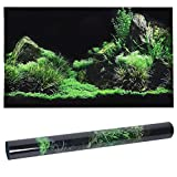 Zerodis Aquarium Poster, Seafloor Water Grass Fish Tank Background Decoration 3D PVC Self Adhesive Fish Tank Wallpaper Sticker for Aquarium Fish Tank Decoration(12246cm)