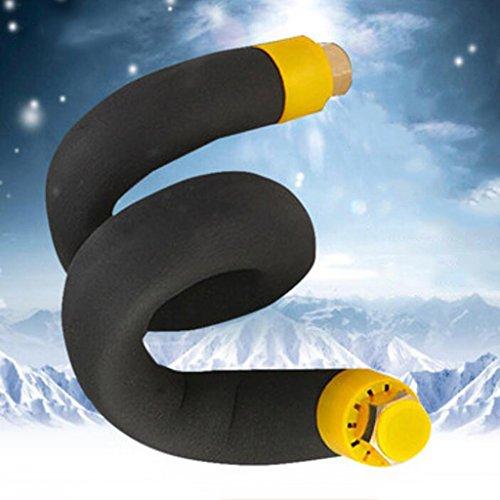 Wddwarmhome Tubo flessibile isolante a soffietto 304 Tubo flessibile in acciaio inox antigelo Riscaldatore acqua tubo flessibile tubo acqua (dimension