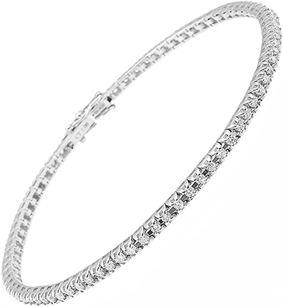 Bracciale tennis elegante da donna in oro bianco 18 kt maga diamonds international BRA002