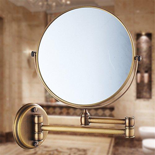 MIWANG Les salles de Bains sont Maquillage rétro Miroir de rétroviseur Rabattable WC Extension Recto Verso Anciens agrandir Le Miroir de courtoisie, 8 Pouce