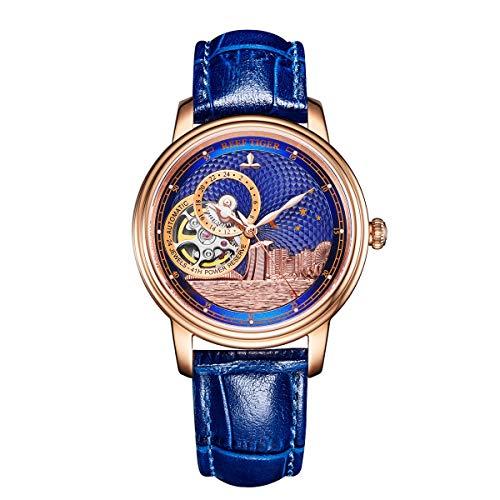 Reef Tiger 2019 Luxury Fashion Watch for Women Men Tourbillon Automatic Watch RGA1739 (RGA1739-PLL)