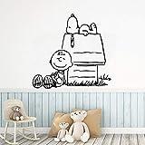 wZUN Gran casa Perro Vinilo Papel Pintado habitación de los niños decoración del hogar Arte Mural 57x60cm