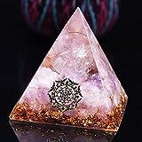 YZYZ Pirámide de cuarzo curativo, bola, generador de energía piramidal para proteger contra la fuerza eléctrica motriz, cristal de carga positiva