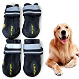 WUXIAN Waterproof Dog Shoes,Dog Outdoor Shoes, Running Shoes for Dogs,Pet Rain Boots, Labrador Husky Shoes for Medium to Large Dogs,Rugged Anti-Slip Sole and Skid-Proof-Size5