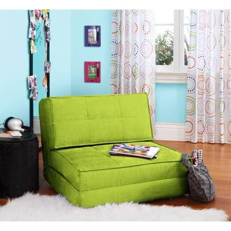 Actual Color Green Glaze Your Zone Flip Chair