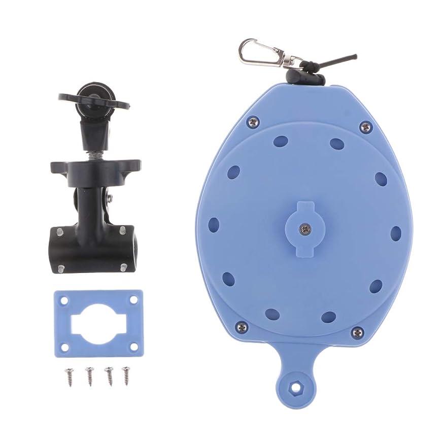 パドル過剰感性F Fityle 引き込み コード 釣りロープ 弾性コイル 魚牽引ストラップ 安全 竿落下防止 プッシュロック 青色