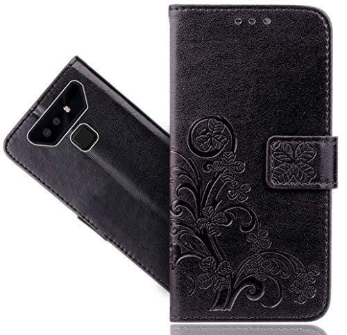 CaseExpert Cubot Quest Lite Handy Tasche, Wallet Case Cover Flower Bling Diamond Hüllen Etui Hülle Ledertasche Lederhülle Schutzhülle Für Cubot Quest Lite