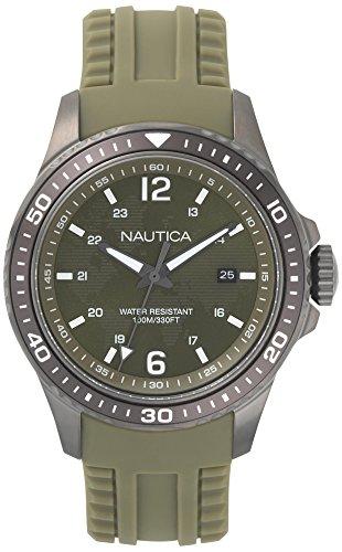 Nautica Herren Analog Quarz Uhr mit Silikon Armband NAPFRB003
