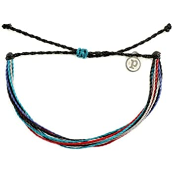 Pura Vida Jewelry Bracelets Muted Bracelet - 100% Waterproof and Handmade w/Coated Charm, Adjustable Band