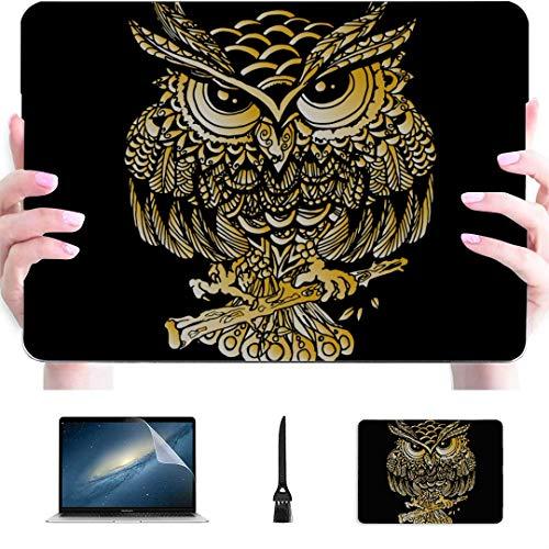 Fundas Macbook Air Cartoon Beautiful Indian Owl Animal Plastic Hard Shell Compatible Mac Air 13