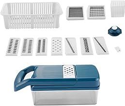 UPKOCH 1 Conjunto de Cortador de Vegetais Multifunções de Cozinha de Aço Inoxidável Cortador de Cebolas de Batata Afiado F...