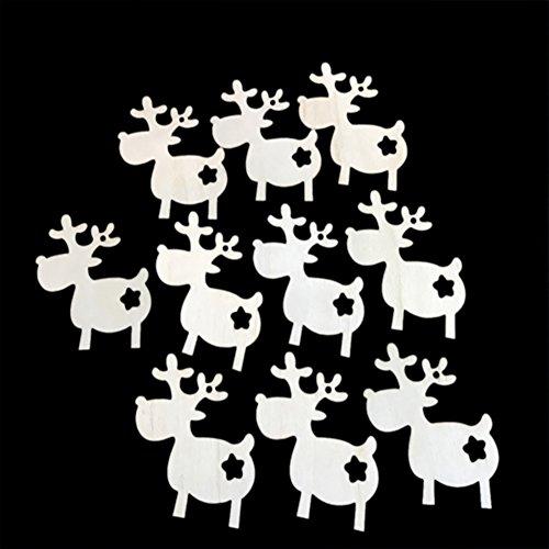 Emorias 10 PCS parures de Noël Bois Chasse Porte pendentifs Murale décoration de Fête Arbre DE Noël Ornements