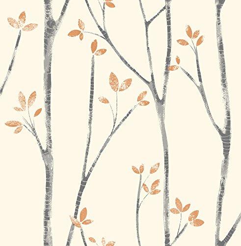 Fine Décor uw24775Scandi Baum Seitenwand, orange