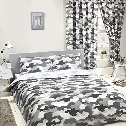 Price Right Home Juego de funda de edredón y funda de almohada reversible para cama doble, color gris
