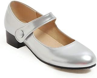 BalaMasa Womens APL11793 Pu Mary Jane Heels