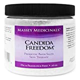Candida Freedom Sea Salt Bath Salts for Candida Support and Candida Cleanse - Anti Fungal Yeast Control  - 16 Oz