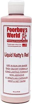 **NEW 2016** Poorboys Liquid Nattys Red Car Wax **FREE POLISH CLOTH & APP PAD**: image