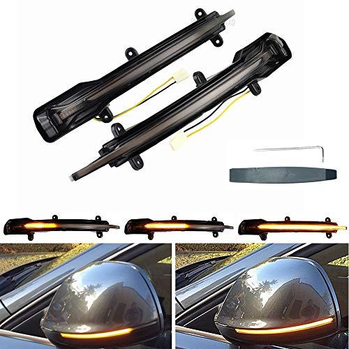 Links Rechts Spiegelblinker Dynamische LED Blinkerleuchten Blinker für Q5 SQ5 8R Q7 4L 2010-2015, mit E-Prüfzeichen