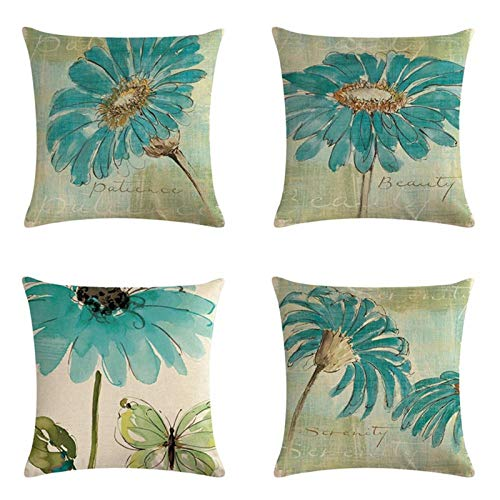 Suading Chic - Funda de cojín para sofá, diseño de girasoles