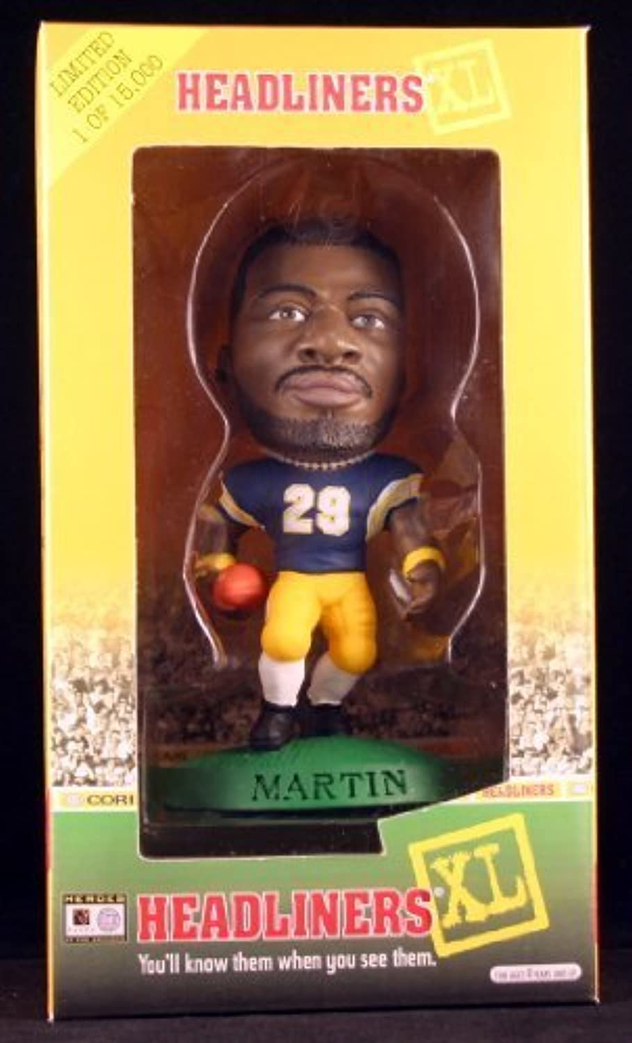 CURTIS MARTIN   UNIVERSITY OF PITTSBURGH PANTHERS 1998 Limited Edition Headliners XL Premier Collection  1 of only 15,000  by Headliners