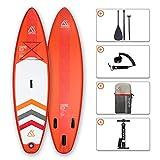"SEAPLUS Tabla de Paddle Surf Hinchable Sup Inflatable Stand up Paddle Board 10'8 LB-R 10'8""*32""*6"" con Inflador/Remo/Mochila/Leash/Fin,Carga hasta 130 Kg"