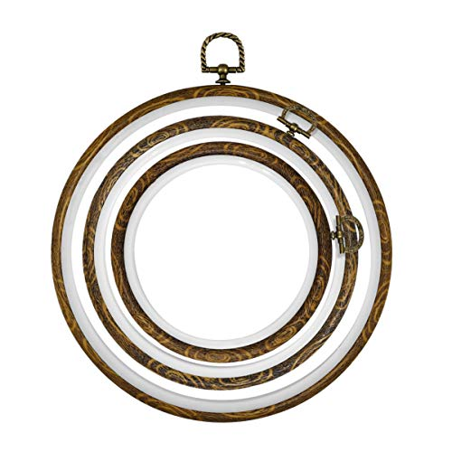 10 Sets Mini Embroidery Hoop Ring Cross Stitch Wooden Frame Hand Crafts DIY Case